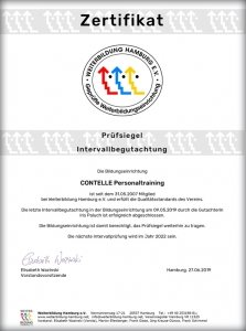 CONTELLE Telefontraining zertifiziert